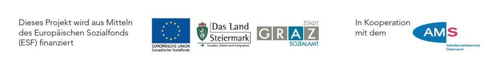 Logo ESF, Land Steiermark, Stadt Graz